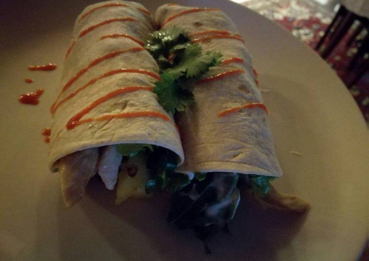 Chicken and Pineapple Wraps