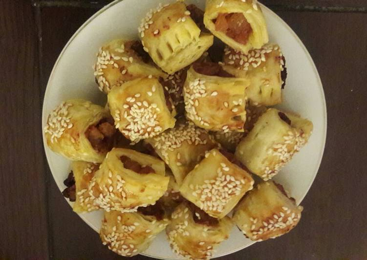 Puff pastry isi daging