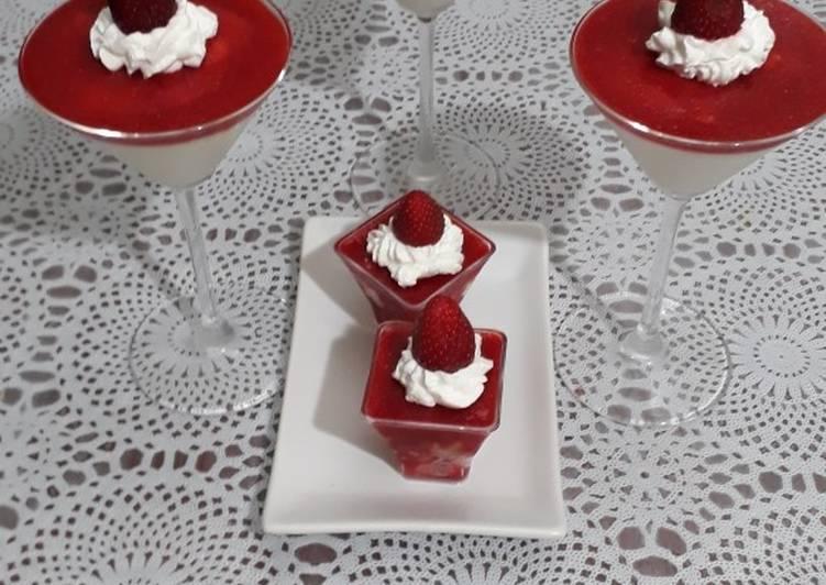 Panacota à la FRAISE #fraise #batailleencuisine