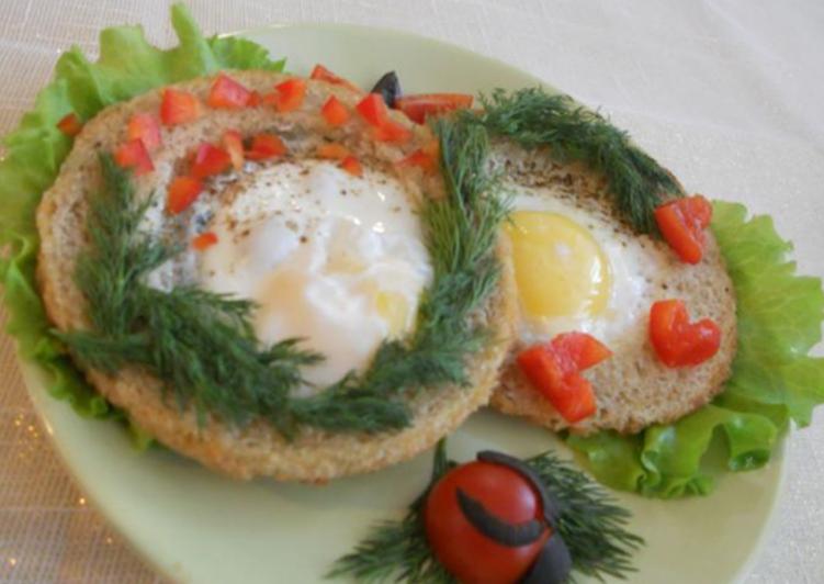 Яичница по французски рецепт с фото пошагово