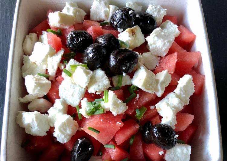 Salade de pastèque à la Fêta