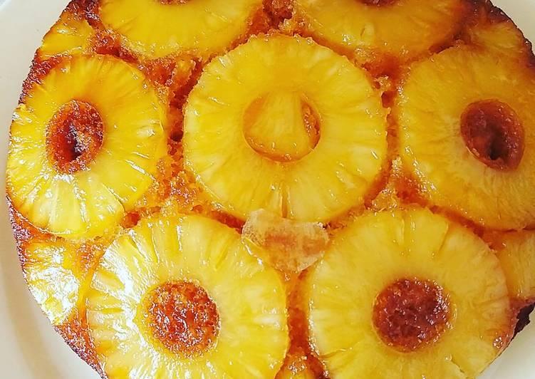 Recette Délicieux Gâteau ananas caramélisé