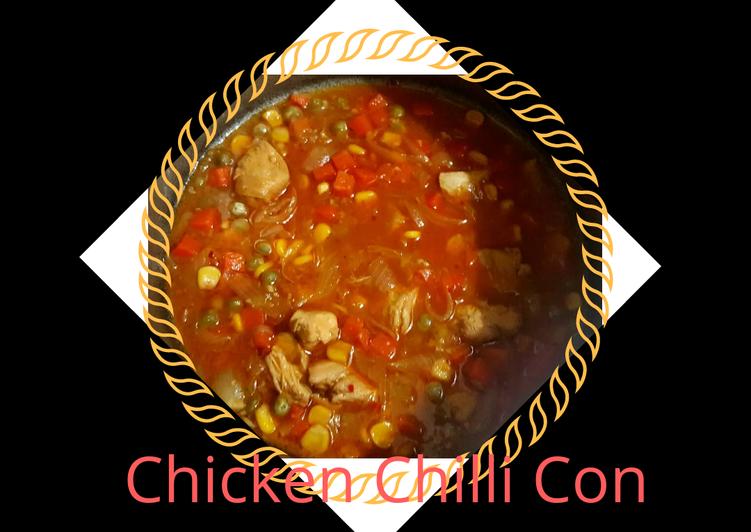 Chicken chilli con carne 🌶🍜