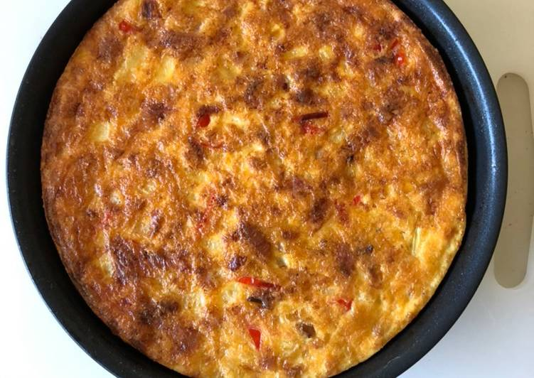 Simple Way to Prepare Most Popular Oven-baked ham, onion, etc. frittata