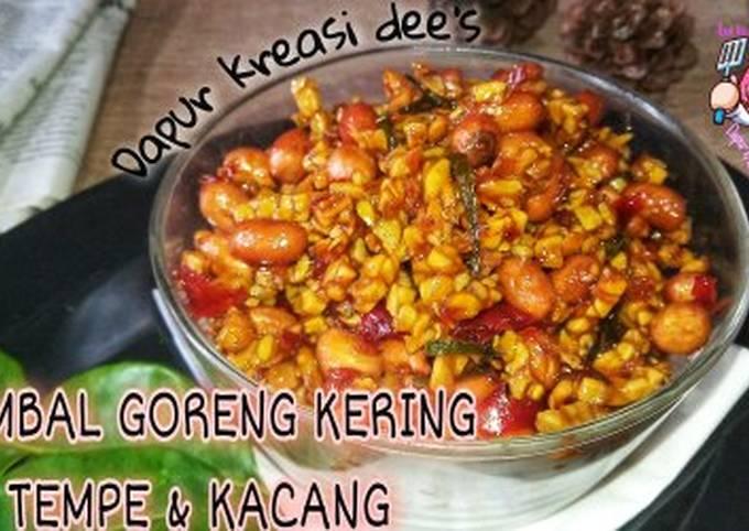 124. sambal goreng kering tempe & kacang - resepenakbgt.com