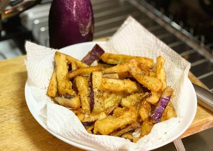 Fried Eggplant w Honey Drizzle