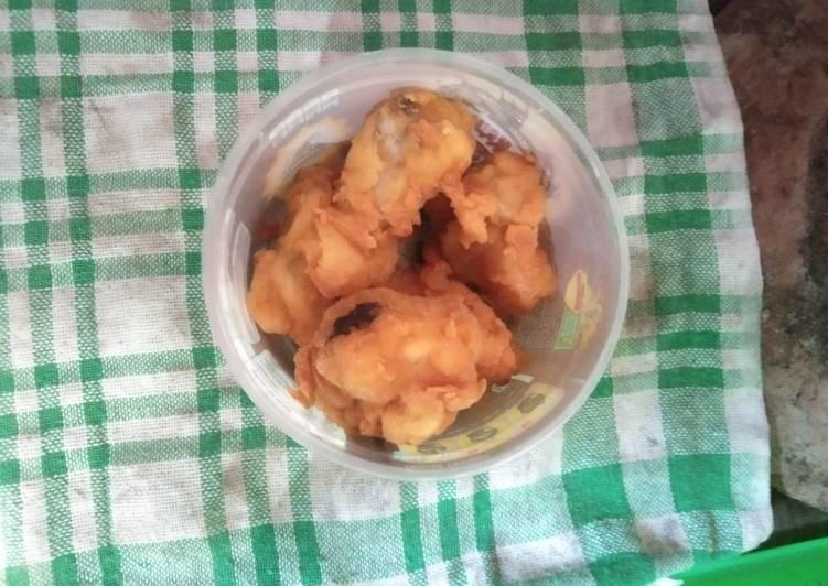 Ayam kentucky untuk balita (bahan seadanya)