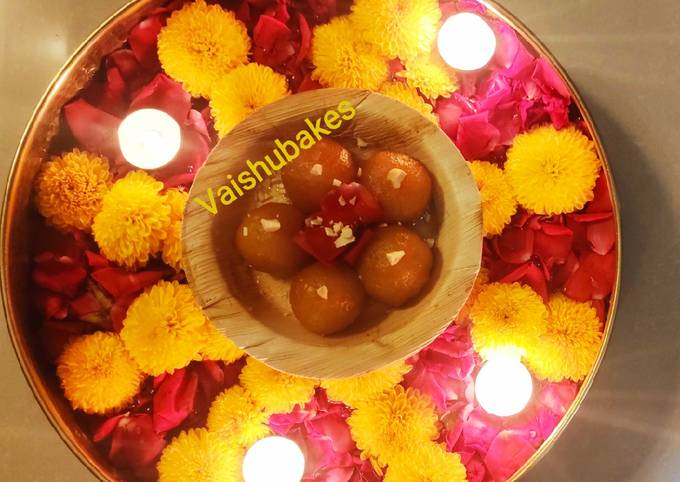 Easiest Way to Make Appetizing Kesar Gulab Jamun (With homemade premix)
