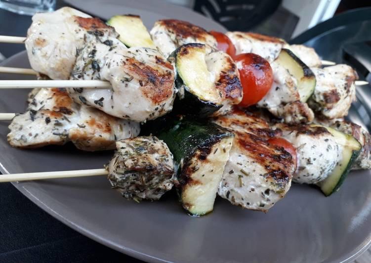 Recette: Appétissant Brochettes de poulet mariné