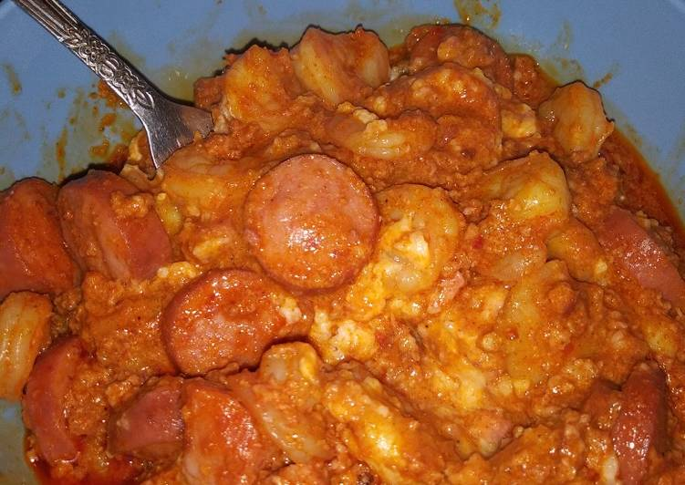 Spicy chorizo shrimp grits
