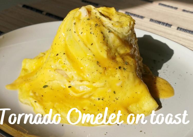 Recipe of Award-winning Tornado Omelet on Toast (Swirl omelet)