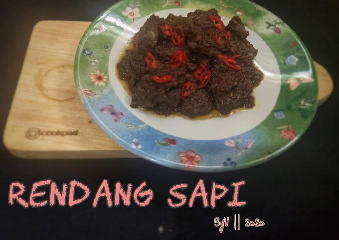 Rendang Sapi resep Mama #Week29