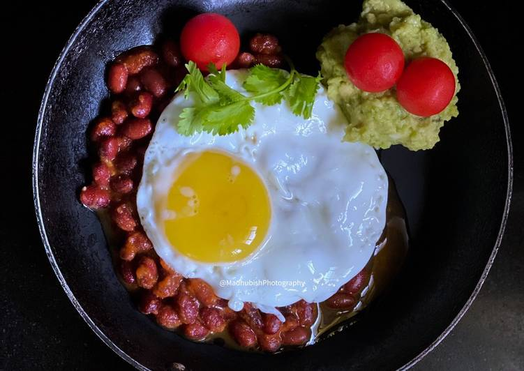 Egg poach on Red beans