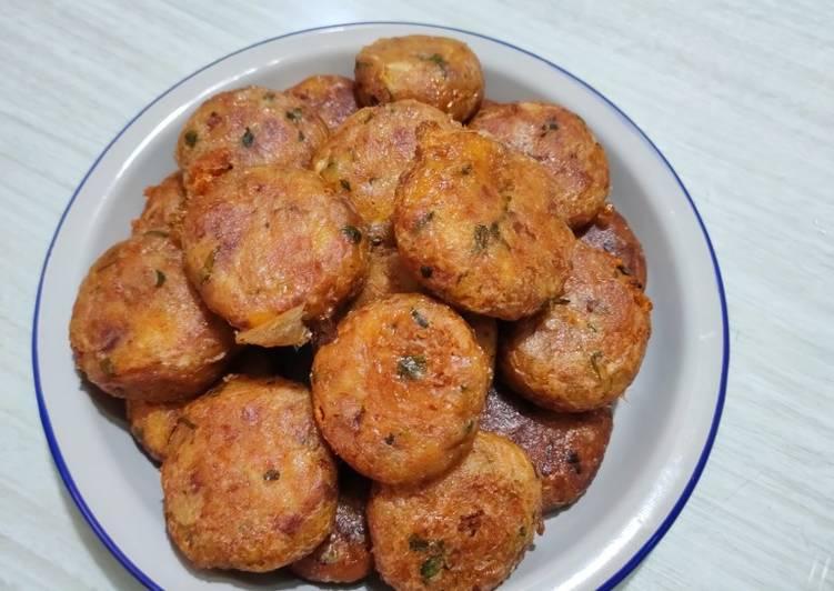 Perkedel kentang daging sapi