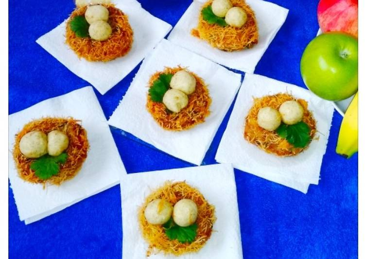 10 Minute Recipe of Vegan Bird Nest