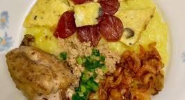 Hình ảnh món Xôi mặn thập cẩm Xôi có gà, xôi có trứng, xôi có lạp xưởng, xôi có cả tôm khô ???