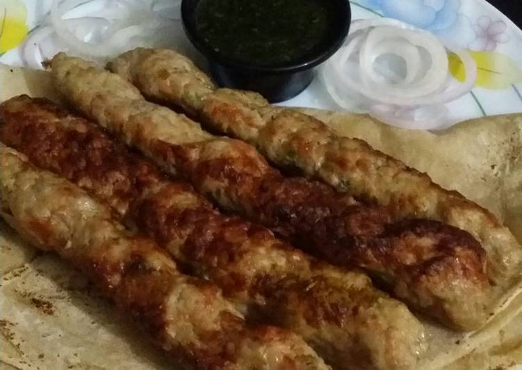 5 Minute Recipe of Homemade Chicken malai kabab. bbq style