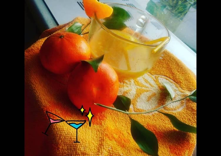 Orange turmeric and ginger immunity booster detox drink