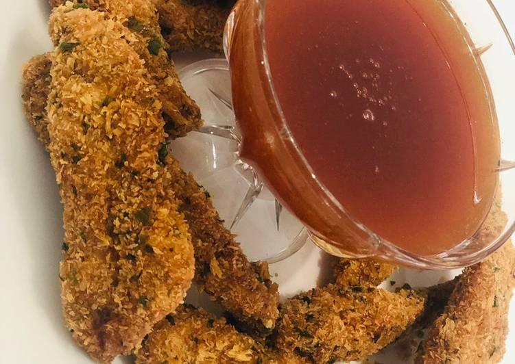 Crunchy coconut & Panko chicken strips