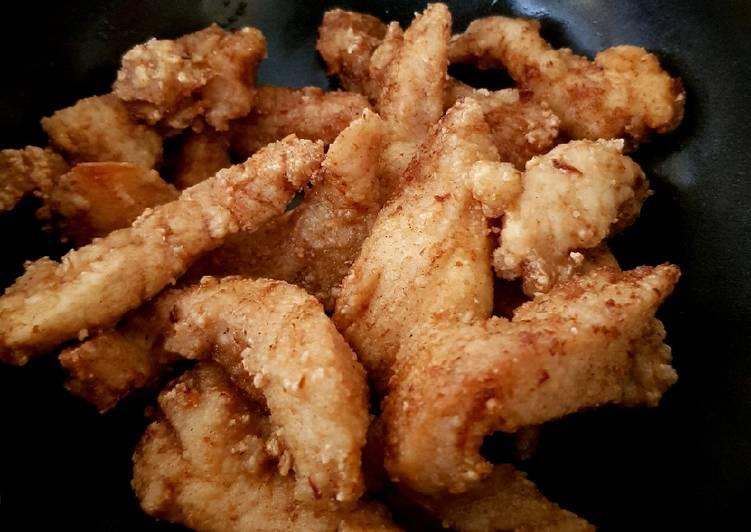 My Crispy Deep-fried Garlic Chicken 😁