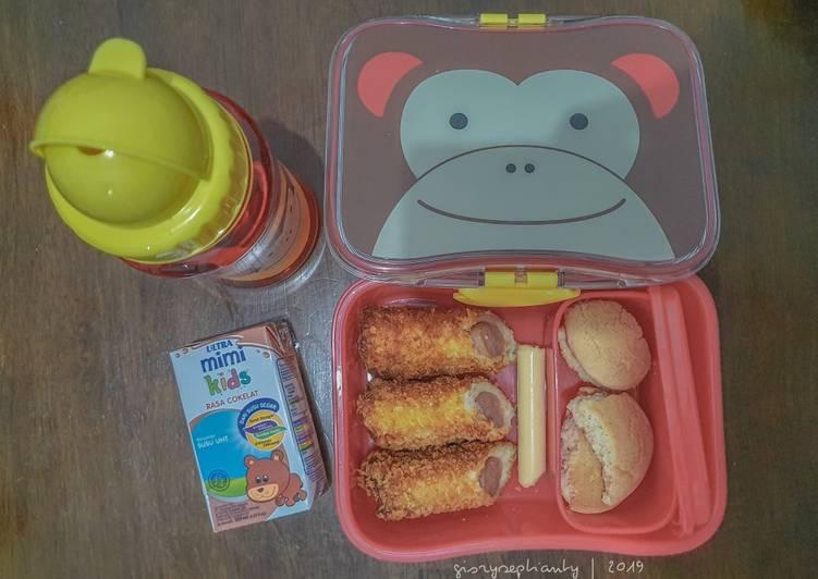 Resep Bekal Anak TK – Roti Gulung Sosis Favorit
