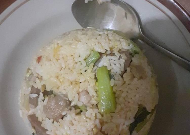 Nasi goreng sayur matah mentega BBQ