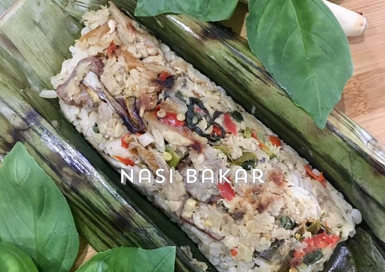 Nasi bakar (ketika tidak ada kemangi)