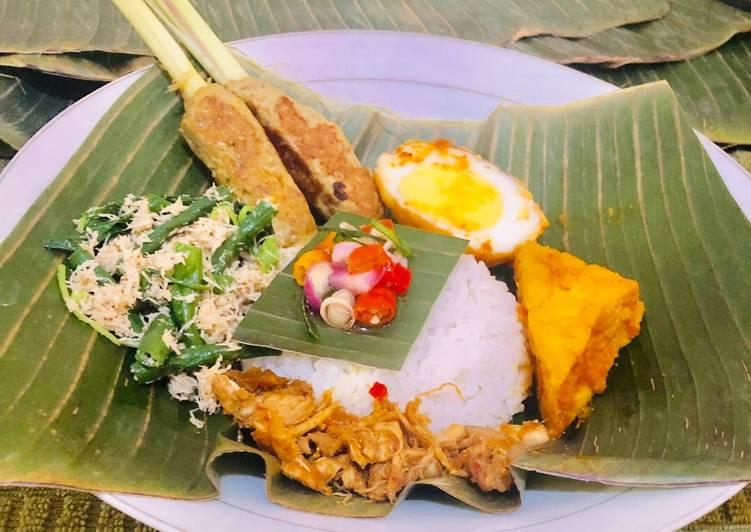 Sate Lilit Ikan Tenggiri - Part Nasi Campur Bali