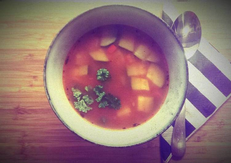 How to Make Recipe of Veggie soup for family and friends