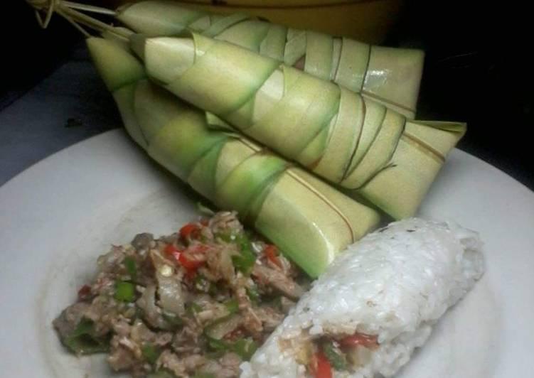 Rice cake w/bicol express filling(suman sa ibos)
