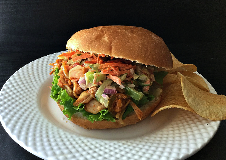 Recipe of Favorite Jackfruit Burgers with Zucchini-Carrot Slaw