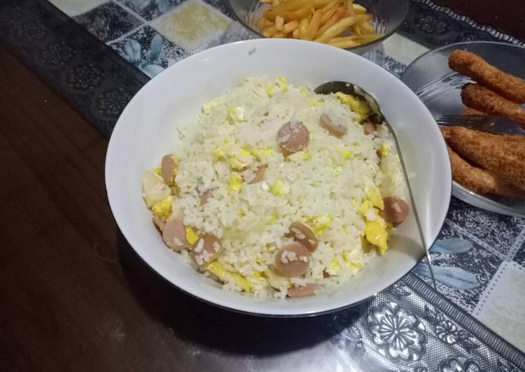 Resep Nasi goreng telur mentega Paling Mudah