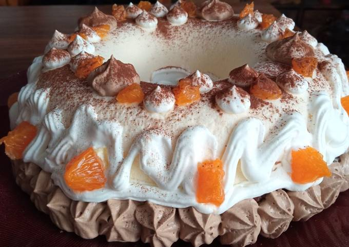 Couronne entremet chocolat mandarine