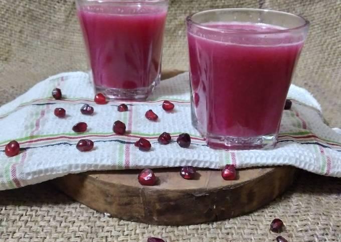 Pomegranate Juice Recipe By Parul Bhimani Cookpad
