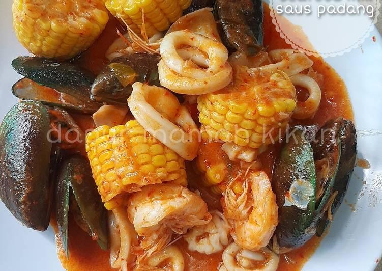 Seafood mix saus padang