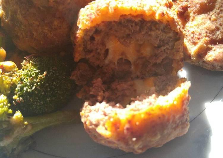 Deep fried cheese burger balls