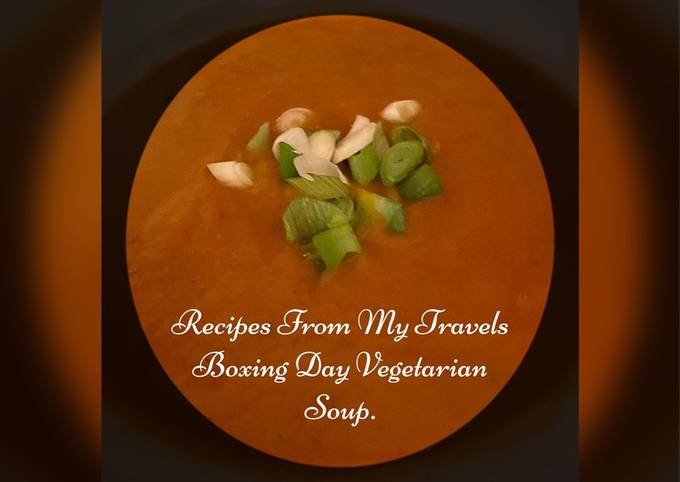 Recipe of Homemade Simple After Christmas Vegetarian Soup
