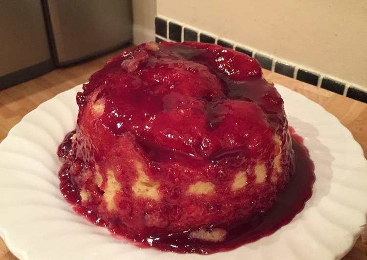 Steps to Make Any-night-of-the-week Upside down jam sponge