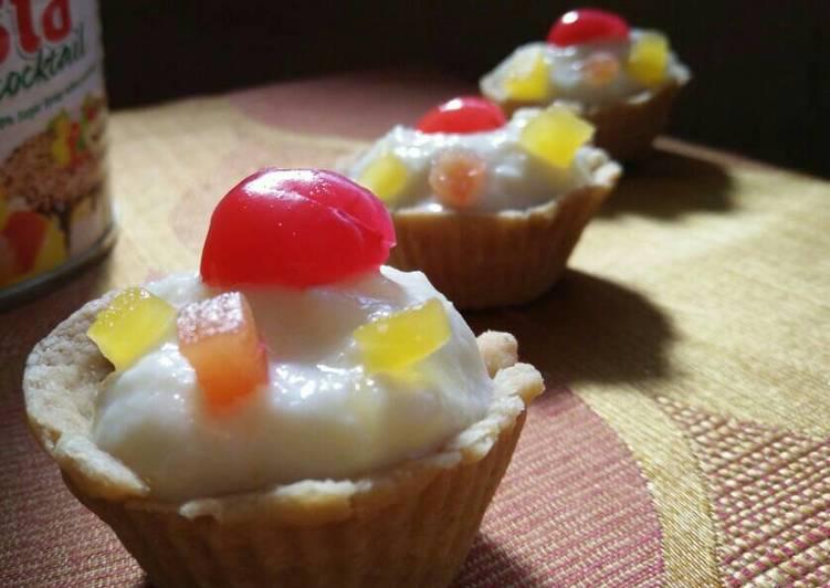 Mixed fruit rice kheer tarts