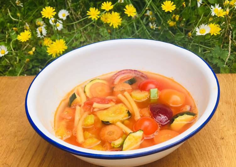 How to Prepare Most Popular Fresh Tomato Minestrone with Summer Vegetables 🌱
