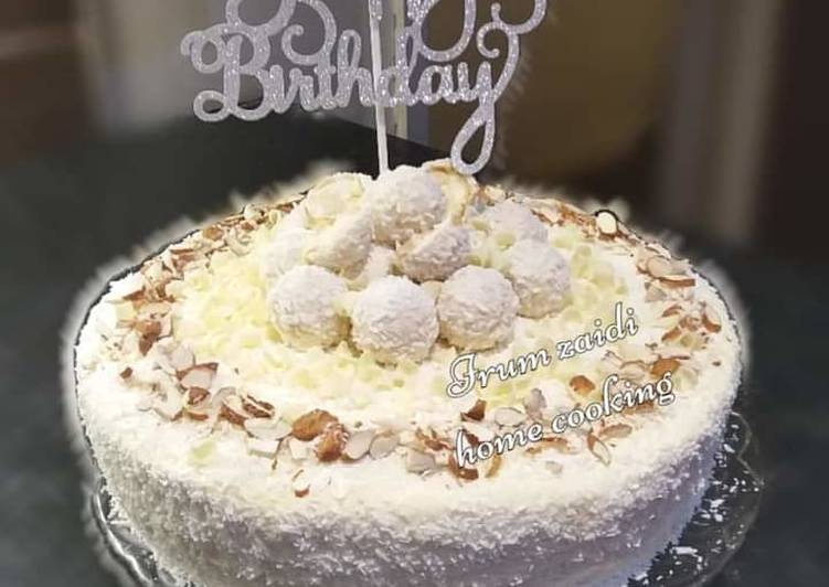 🎂Raffaello Cake🎂 (Almond Coconut Cake)