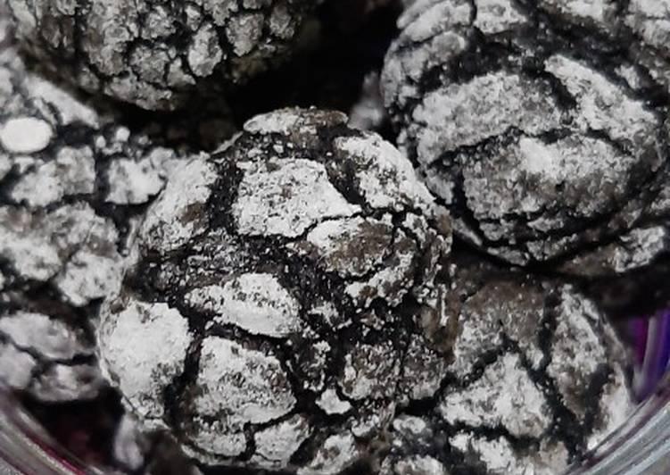 Crincle brownie cookies (no mixer)
