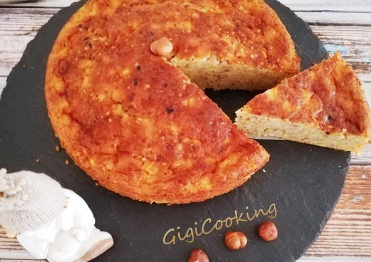 Gâteau fondant pommes/noisettes et praliné croustillant