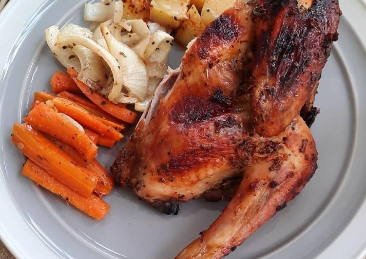Ayam Panggang Oven (Roasted Chicken) - cookandrecipe.com