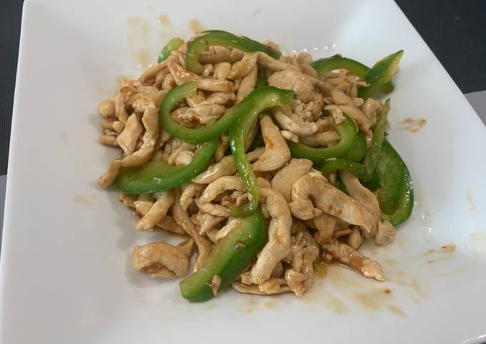 Chinese style Stir-Fry Containing Green pepper and Meat