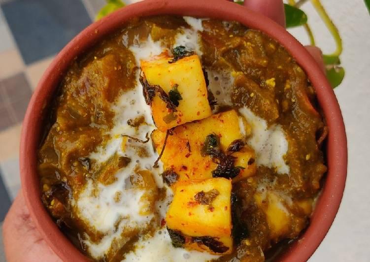 10 Minute Recipe of Vegan Palak paneer