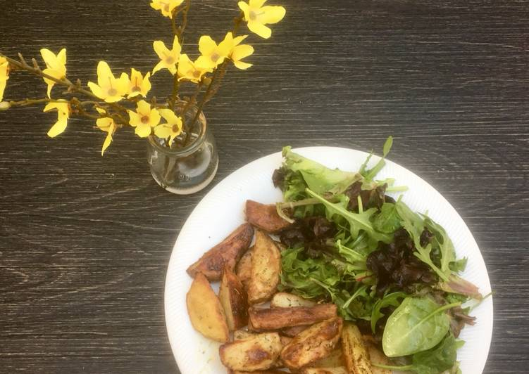 Roasted herb 'spring' potatoes