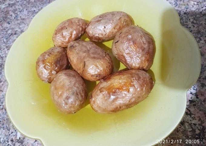 Pomme de terre grillée au four