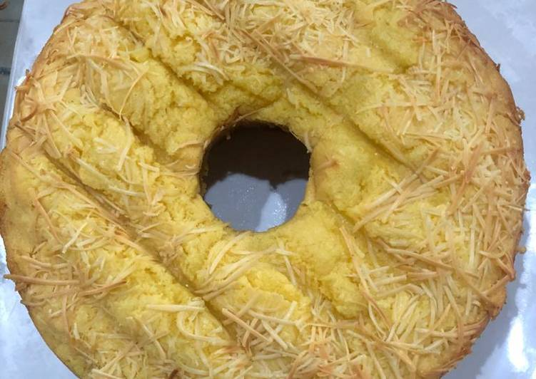 Cake tape toping keju
