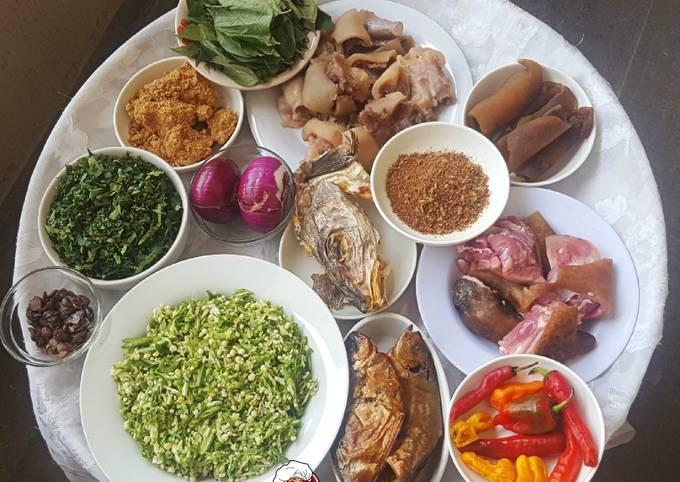 Food prep for Okro/Ogbono soup